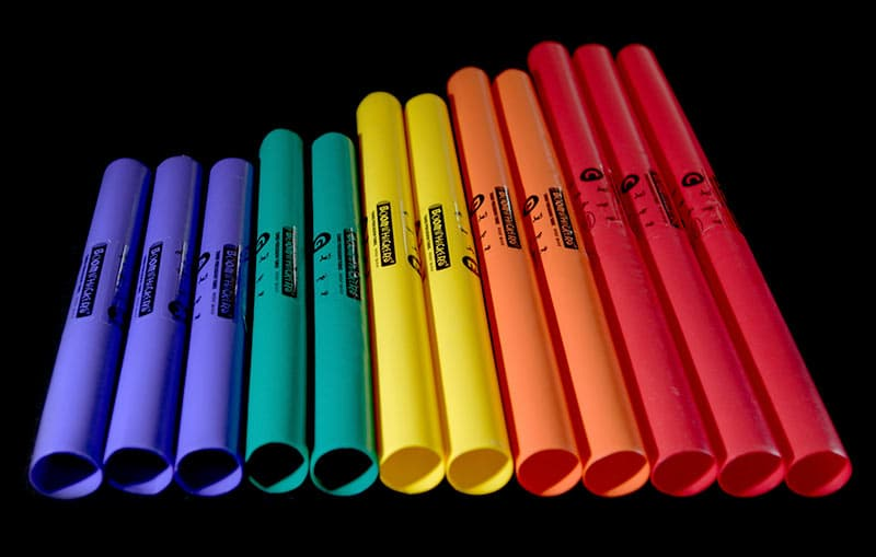 Close-up of boomwhackers