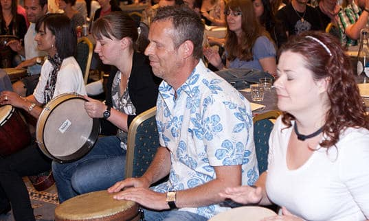 Listening in drumming workshops