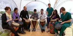 Photograph of Drumming Workshop on ITV This Morning