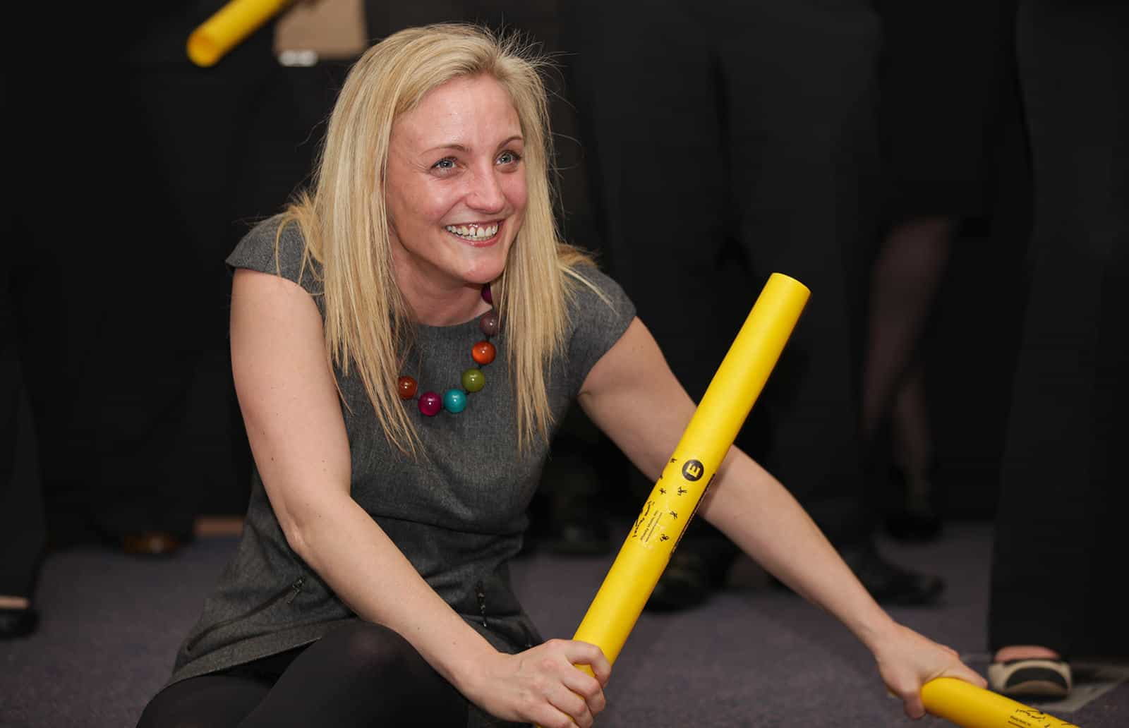Boomwhackers small team activity