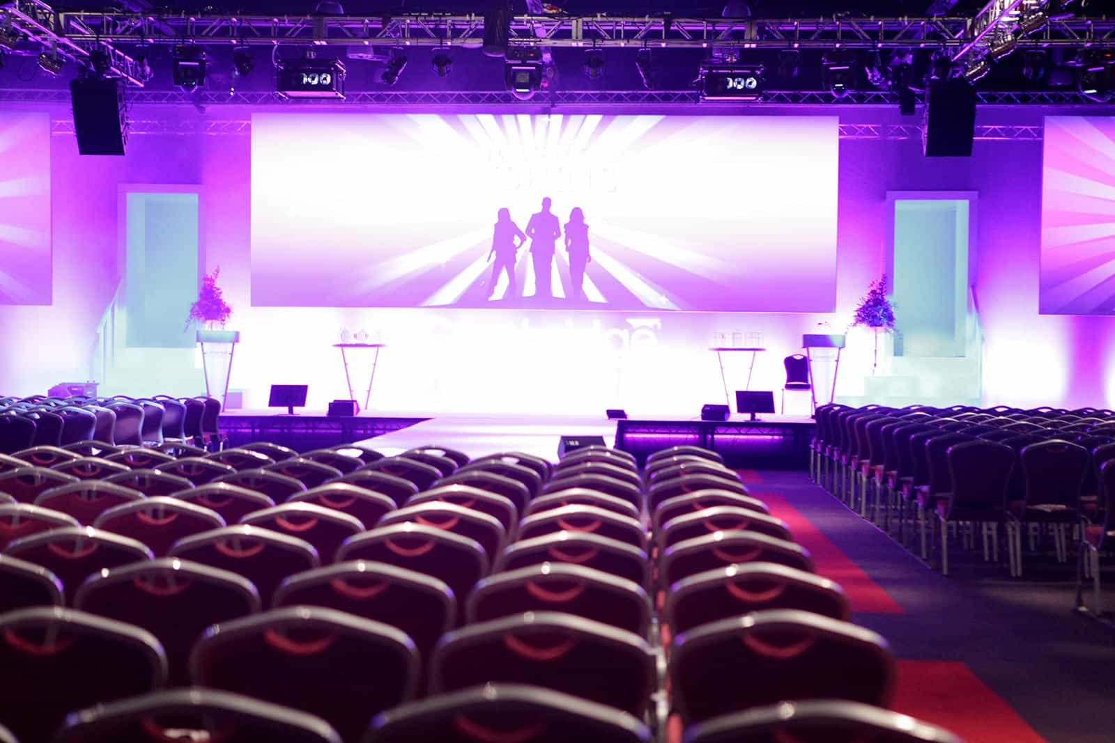 Typical large conference setting