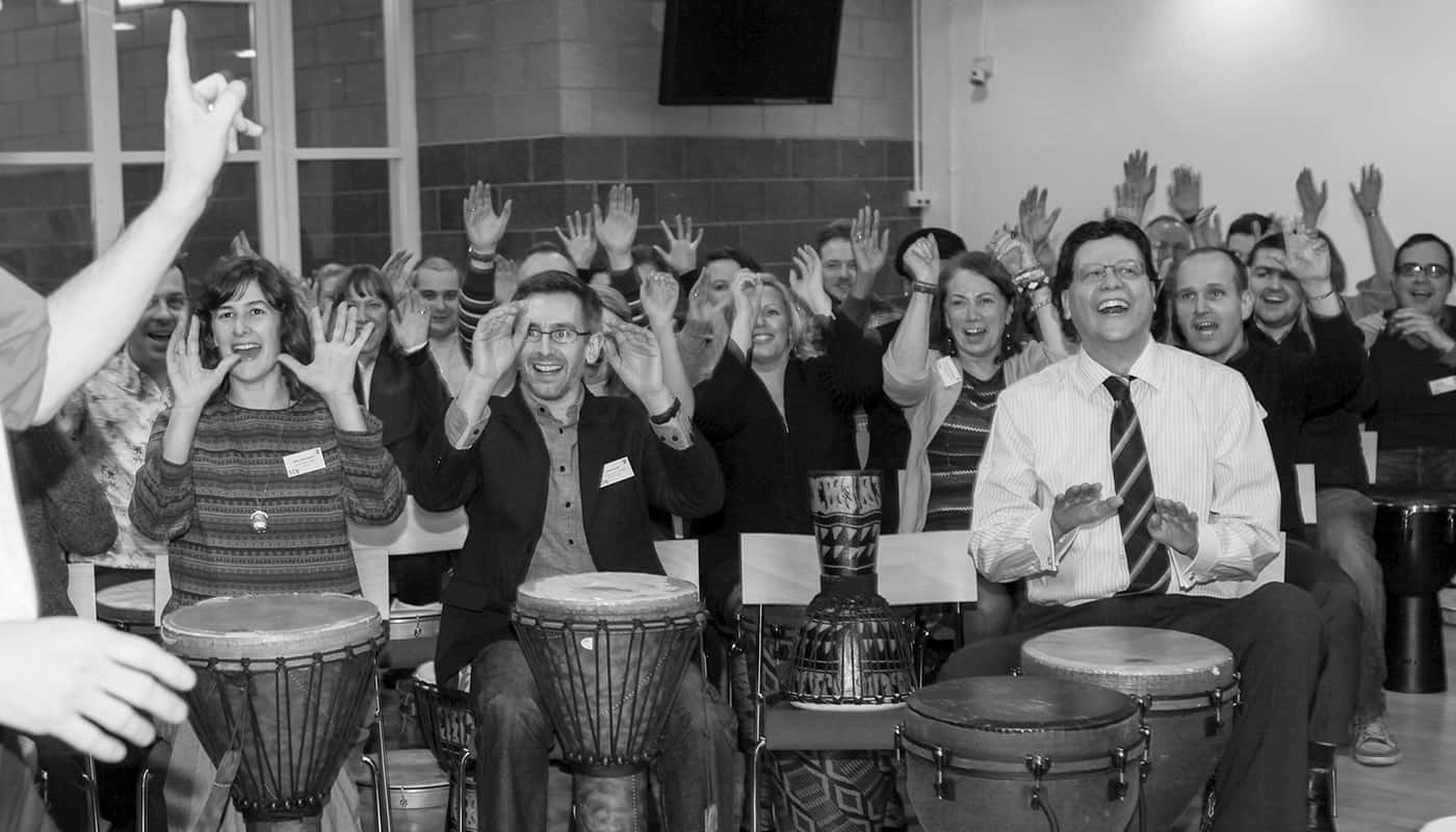 Save the Children drumming session