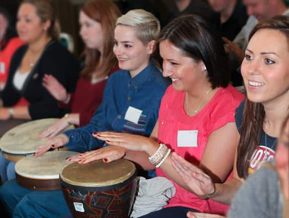 Photo of a drumming workshop