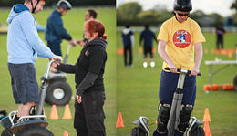 Team building activity using segways