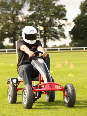 Beat the Stig team building activity using driving