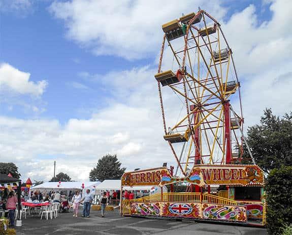 Ferris wheel at family fun day