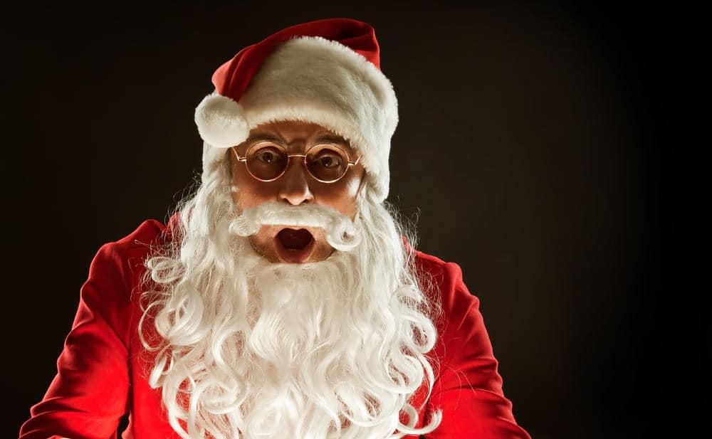 Secret singing Santa