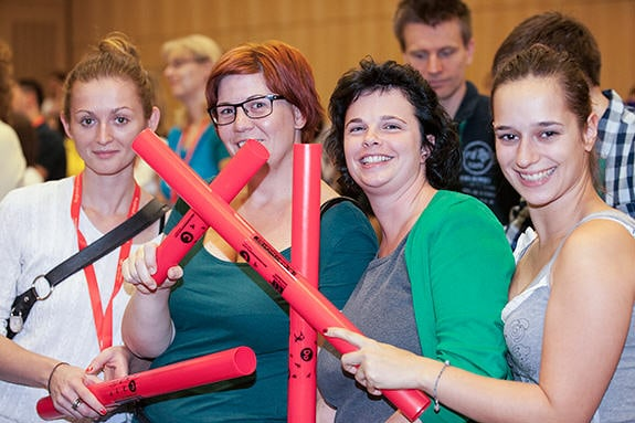 Boomwhackers team building