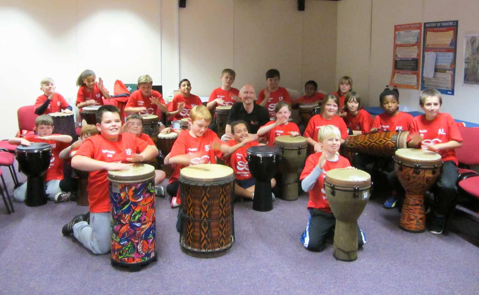 Drumming for disadvantaged children