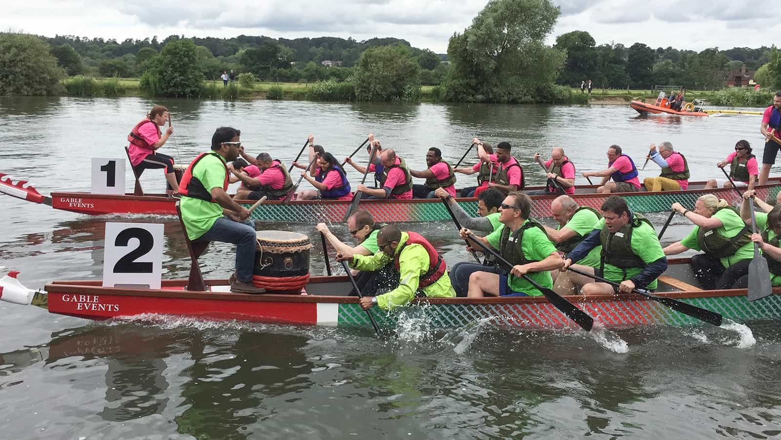 Team building with dragon boats