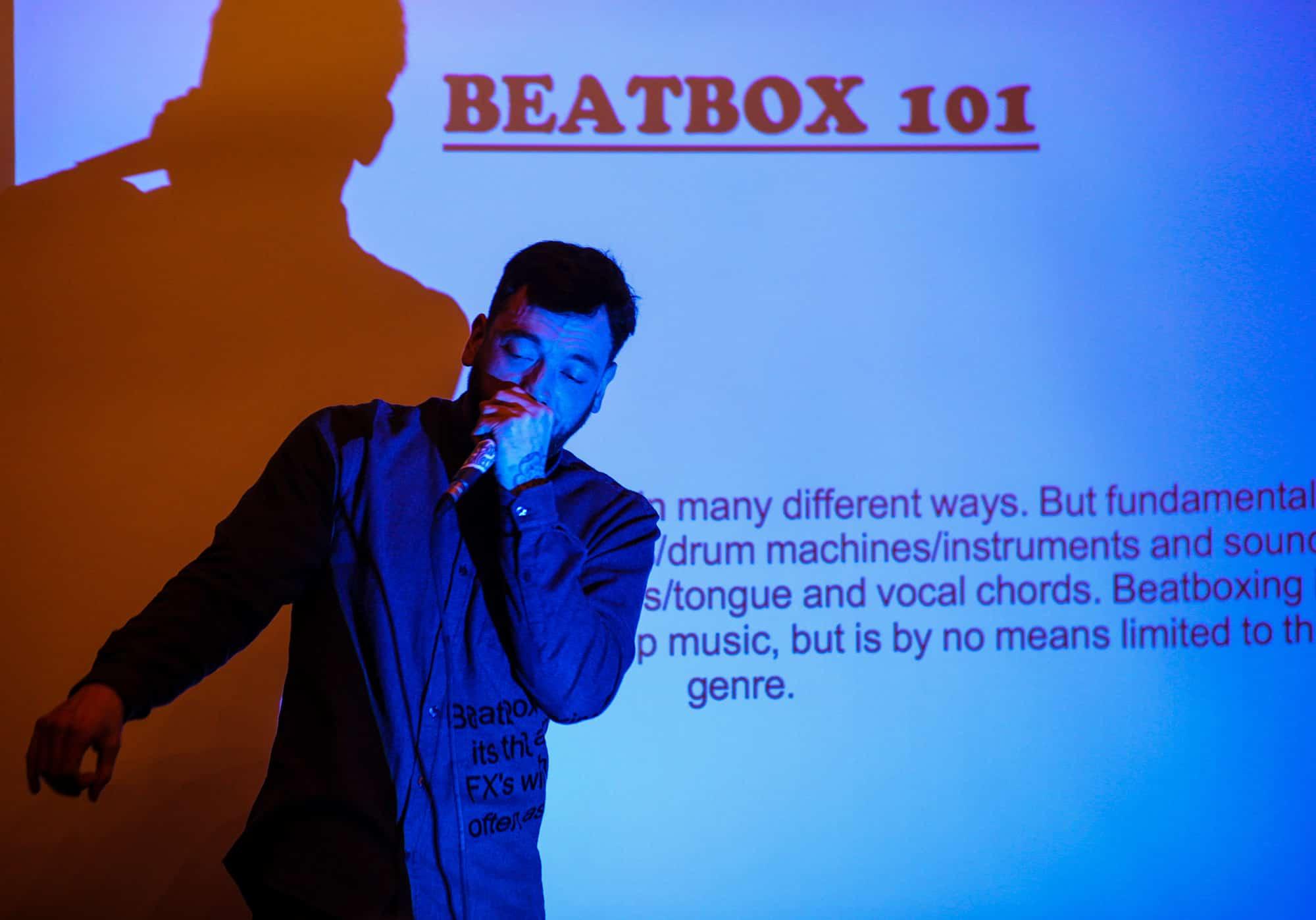 Human beatboxing person