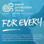 See Us at the Event Production Show at London Olympia