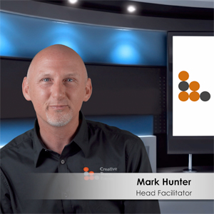Mark Hunter in the Creative Team Events TV studio